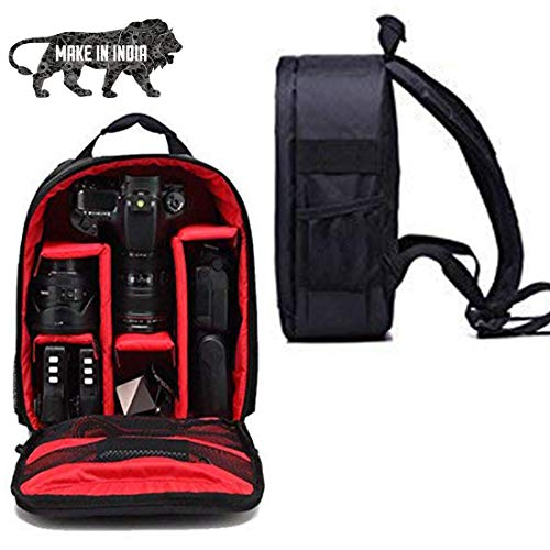 WORLD LOOK® All in One Camera Bags Series Waterproof DSLR Backpack Camera Bag, Lens Accessories Carry Case for All Camera Bags & Others-Made in India
