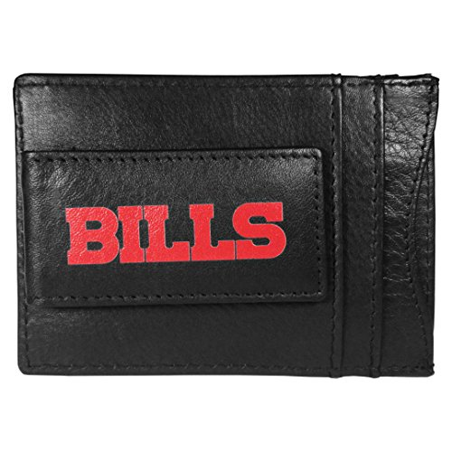 (Siskiyou NFL Buffalo Bills Logo Leather Cash and Cardholder, Black)