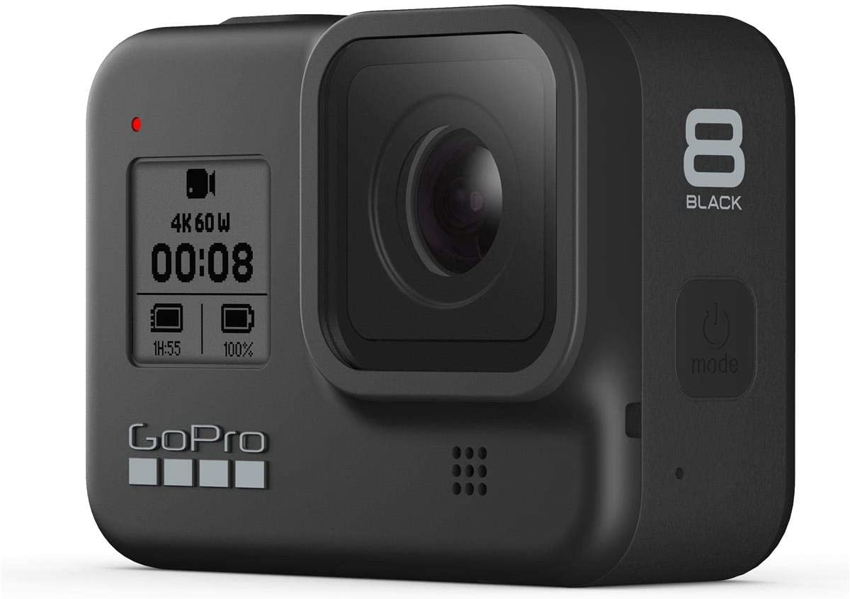 GoPro HERO8 Black Action Camera w GoPro Dual Lithium-Ion Battery Charger with 1 x Battery and 32GB Memory Card