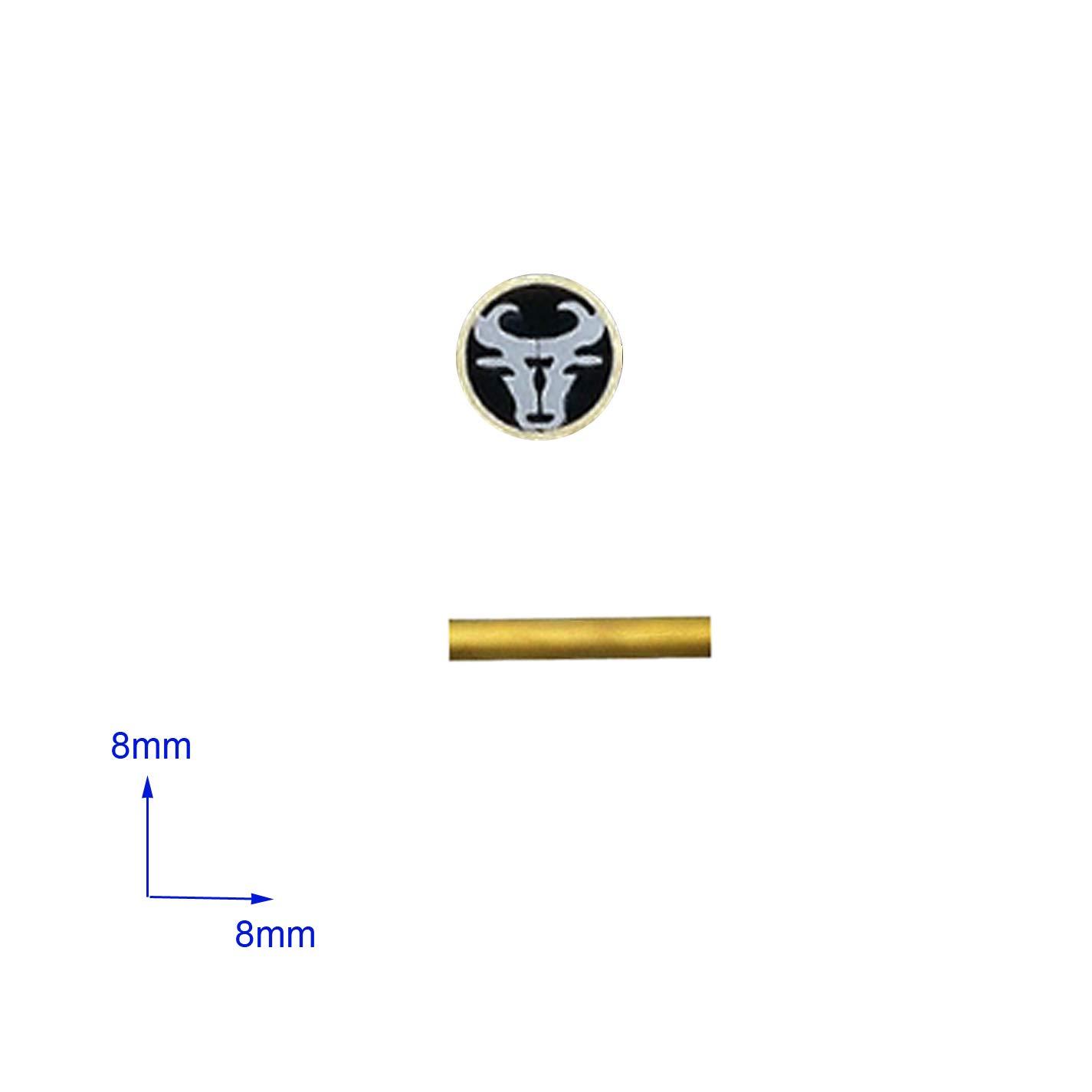 Bolzen aus Mosaiken Nieten f/ür den Messergriff 5mm, Bumerang Jagdmesser Befestigungsst/ücke Mosaikschrauben L/änge 4,5cm