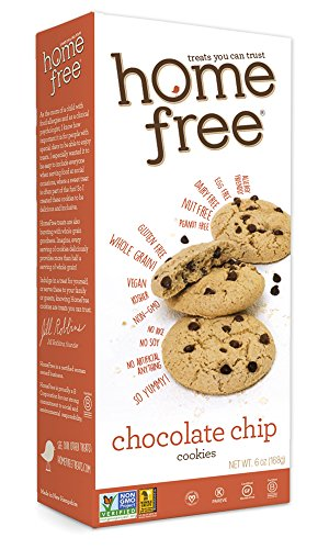 Homefree Treats You Can Trust Gluten Free Cookies, Chocolate Chip, 6 Ounce (Treat Cookies)