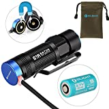 Olight® S1R Baton Turbo S 900 Lumens Rechargeable Handheld Flashlight Cree XM-L2 LED Cool White with 1 x 550mAh RCR123A Battery Magnetic Tailcap and Pouch Compact EDC Light Torch Outdoor Lighting Products