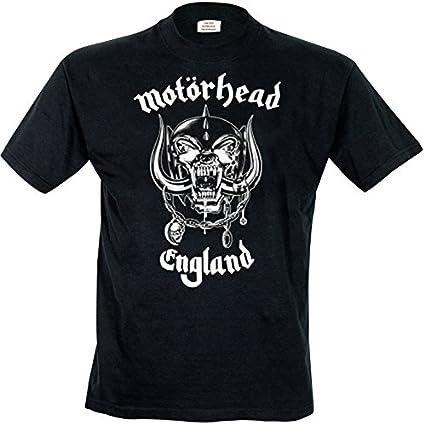 Rock Off - Camiseta de manga corta con cuello redondo para hombre, Negro, Large