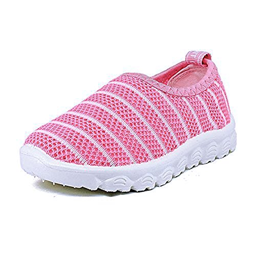 Antheron Kids Water Shoes Boys Girls Breathable Slip-On Summer Pool Beach Mesh Sneakers (Toddler/Little Kid) Pink,25 by Antheron