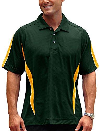 (Pro Celebrity Men's Phenom Polo Shirt (X-Large, Dark Green/Gold/White))