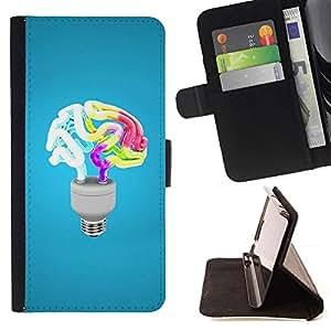 Momo Phone Case / Flip Funda de Cuero Case Cover - Divertido Luz Cerebro - Samsung Galaxy Note 4 IV