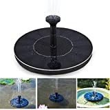 SOLEDI Solar Panel Water Floating Pump Fountain Garden Pool Watering Solar Pump Set