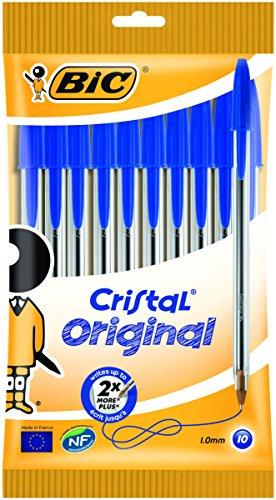 BIC Kugelschreiber Cristal Medium, 0.4 mm, Beutel à 10 Stück, blau