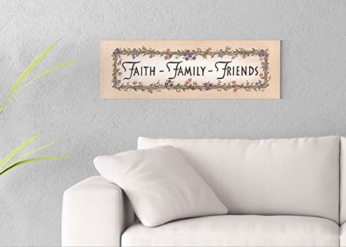 ImagesPrinted Faith-Family-Friends Printed on 30x10 Canvas Wall Art by Pennylane