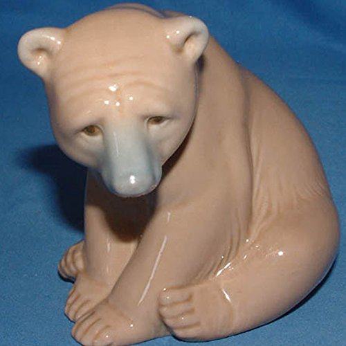 Lladro 1206, Bear Seated (Brown Bear)