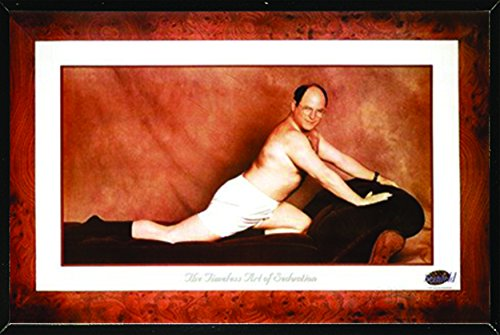 Seinfeld-George Timeless Art Of Seduction Poster in a Black Thin Poster Frame 36 x 24  04189-PSA009998