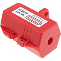 MagiDeal Electrical Plug Lockout Plug Lockout Device Safty Red for Cable dia 18mm Diameter