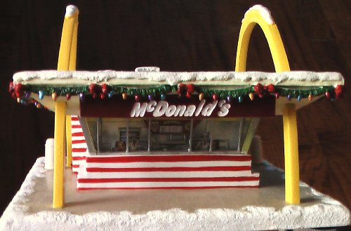 McDonald's Classic McMemories Ceramic Sculpture of the Golden Arches ~ 40th Anniversary of the Opening of the First McDonald's Restaurant