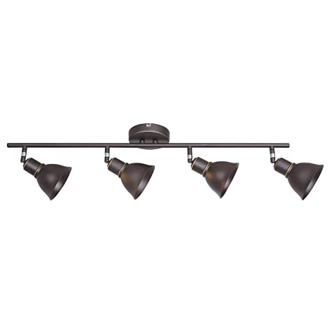reputable site 0b06a 3b94b Industrial Vintage Indoor Wall Mount Spotlight BONLICHT 4 Light Modern Semi  Flush Mount Ceiling Light Oil Rubbed Bronze Adjustable Kitchen Track ...
