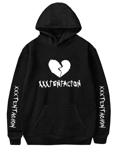 a881e1646 Amazon.com  Detroital Unisex Hoodie Xxxtentacion Sad Heart Cool Rap ...