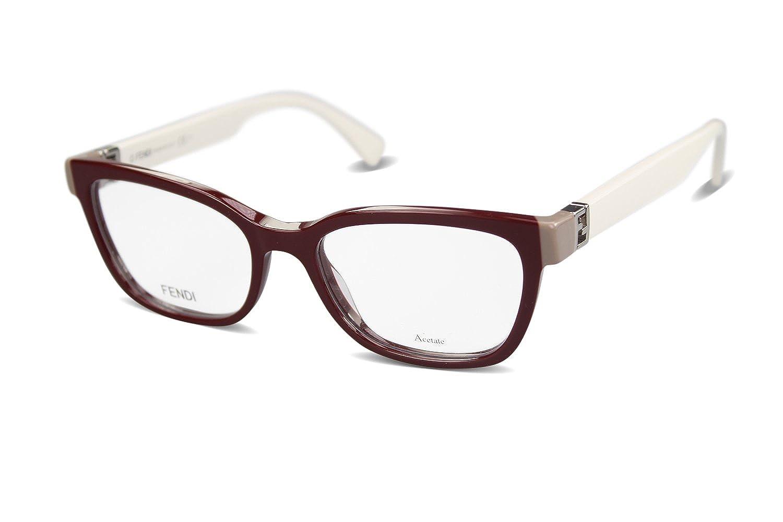 Fendi Brillen Für Frau 0130 MFZ, Bordeaux / Ivory Kunststoffgestell ...