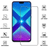 FASHIONISTA 0.3mm High Quality Tempered Glass for Honor 8X - Transparent (Slightly Smaller Due to Curved Edges) -Pack 1