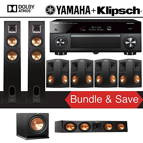 Klipsch R-26FA 7.1-Ch Reference Dolby Atmos Home Theater Spe