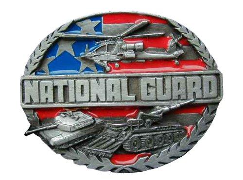 National Guard Colored Novelty Belt Buckle