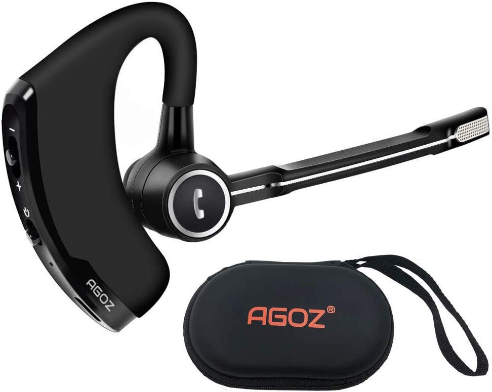 Amazon Com Agoz Bluetooth Headset With Mic Wireless Headphone Earpiece For Iphone 11 Pro Iphone Se Xs Max Xr X 8 Plus 7 6s Samsung Galaxy Note 20 10 9 8 S20 S10 S9 S8 J7 A10e A20 A21