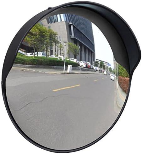 N/O Viel Spaß beim Einkaufen mit Verkehrsspiegel Konvex PC-Kunststoff Schwarz 30 cm Outdoor
