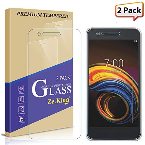 [2-Pack] LG Tribute Empire Screen Protector Tempered Glass, Zeking [3D Touch][Case Friendly] Bubble Free, Lifetime Replacement Warranty ()