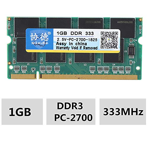 Xiede 1G 333MHz Laptop Memory RAM Module for DDR PC-2700 Notebook Compatible for Intel/AMD