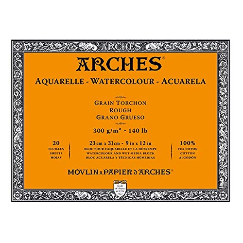 Arches Aquarelle Watercolor Block 140 lb. rough 9 in. x 12 in. pad