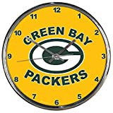 NFL Green Bay Packers Chrome Clock