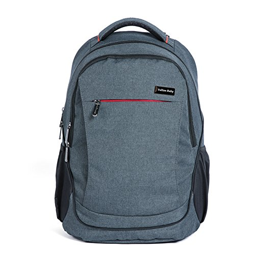yuhan-oxford-baby-diaper-bag-backpack-diaper-pad-insulation-bag-fit-stroller-black-grey