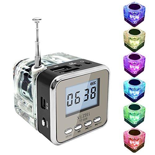 Black Fm Speaker - econoLED Mini Digital Portable Music MP3/4 Player Micro SD/TF USB Disk Speaker FM Radio (Black)