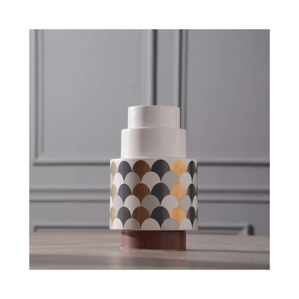 セラミック花瓶の装飾現代のミニマリストの床クリエイティブセラミック花瓶ホームリビングルームの装飾 (Color : A) B07SS9JGGD A