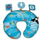 Boppy Pillow with Interactive Slipcover, Gentle Ocean (Discontinued by Manufacturer)