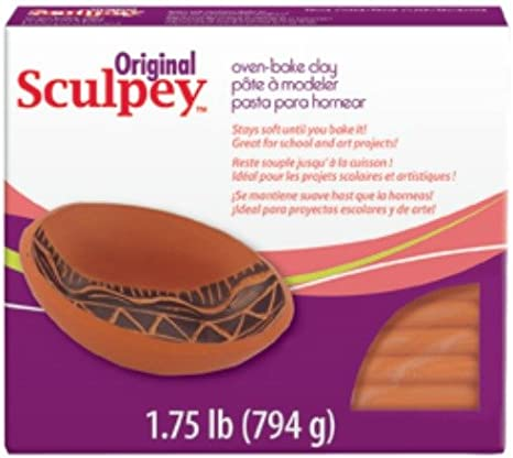 Original Sculpey Oven Bake Clay 1 pounds Terra Cotta