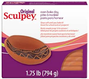 Polyform Sculpey Original Polymer Clay, 1.75-Pound, Terra Cotta