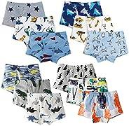 XNN Soft Cotton Baby Toddler Underwear Little Boys' Assorted Boxer Briefs(Pack of
