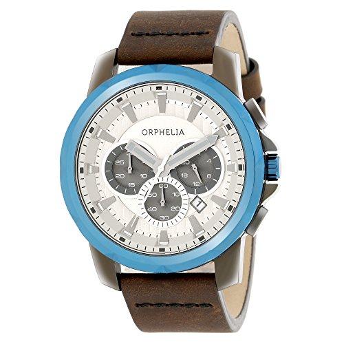 ORPHELIA Men's Chronograph Five senses Brown Leather-81503