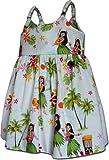 Hula Girls Toddler's Hawaiian Dresses White 3-4