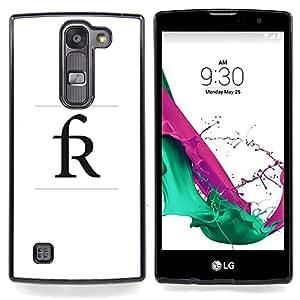 """For LG G4c Curve H522Y ( G4 MINI , NOT FOR LG G4 ) Case , R cartel inicial del nombre de letra Rick Randy"""" - Diseño Patrón Teléfono Caso Cubierta Case Bumper Duro Protección Case Cover Funda"""