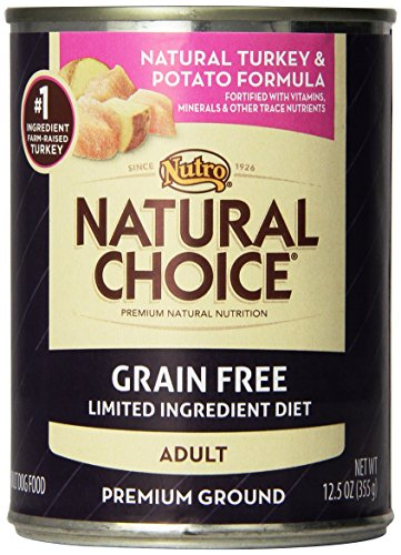 Natural Choice Dog Grain Free Turkey and Potato Formula Dog Food Cans, 12-1/2-Ounce, 12 pack cans