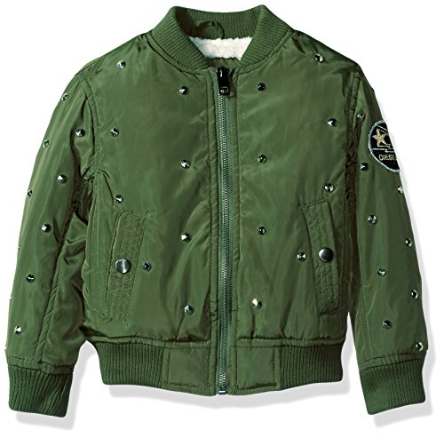 Diesel Big Girls' Outerwear Jacket (More Styles Available), Flight-DS98H-Military Green, ()