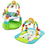 Activity Gym and Saucer Bright Starts 2-in-1 Laugh and Lights Baby Musical