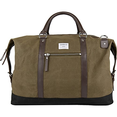 Sandqvist Jordan Weekend Bag - Waxed Olive by Sandqvist