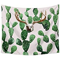Chengsan Landscape Tapestry Watercolor Headboard, Cactus Wall Tapestry Mandala Tapestry Bohemian Tapestry Cactus Tapestry Indian Wall Decor Hippie Tapestry Headboard Home Decor (5, 59x78 inch)