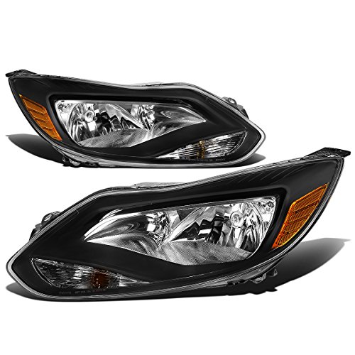 - For Ford Focus 3rd Gen Pair of Black Housing Amber Corner Headlights