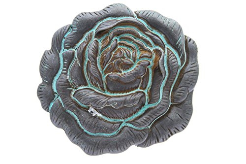 3-d Engraved Rose Belt Buckle Made for 1.5