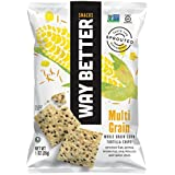 Way Better Snacks Sprouted Gluten Free Tortilla Chips, Sunny Multi Grain, 1 Ounce (Pack of 12)