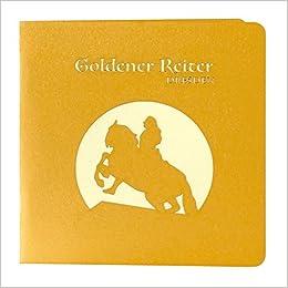 Wunderkarte Goldener Reiter Dresden Gold 3d Klappkarte Midi