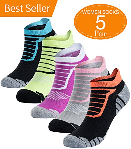 Athletic No Show Running Socks Women Cushion Low Cut Sports Performance (Cotton Running Sport Socks)