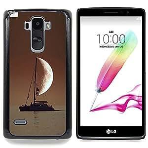 """Qstar Arte & diseño plástico duro Fundas Cover Cubre Hard Case Cover para LG G4 Stylus H540 (Marinero En El Mar Media luna"""")"""